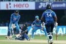 Akila Dananjaya was bowled around his legs by Kuldeep Yadav, India v Sri Lanka, 3rd ODI, Visakhapatnam, December 17, 2017