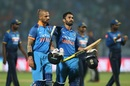 Dinesh Karthik and Shikhar Dhawan took India to an eight-wicket win, India v Sri Lanka, 3rd ODI, Visakhapatnam, December 17, 2017