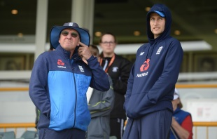 Trevor Bayliss and Joe Root received only temporary respite from the rain