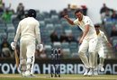Josh Hazlewood rattled Jonny Bairstow's off stump with his first ball, Australia v England, 3rd Test, Perth, 5th day, December 18, 2017