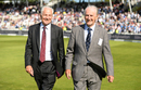 David Gower and Ted Dexter take a lap around the ground as part of the celebrations to mark Edgbaston's 50th Test, August 17, 2017