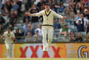 David Warner celebrates a wicket as Australia close in, Australia v England, 3rd Test, Perth, 5th day, December 18, 2017