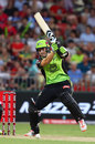 Shane Watson plays one off the backfoot, Sydney Thunder v Sydney Sixers, Big Bash League 2017-18, Sydney, December 19, 2017