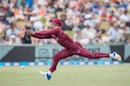 Evin Lewis drops a difficult chance, New Zealand v West Indies, 1st ODI, Whangarei, December 20, 2017