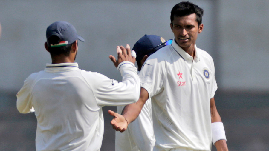 Navdeep Saini celebrates a wicket