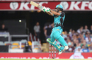 Joe Burns leaps to play the cut, Brisbane Heat v Melbourne Stars, Big Bash League 2017-18, Brisbane, December 20, 2017