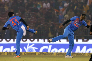 Shreyas Iyer and Hardik Pandya bring out a special celebration