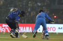 MS Dhoni stumps Thisara Perera, India v Sri Lanka, 1st T20I, Cuttack, December 20, 2017