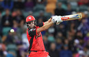 Cameron White cuts one during his match-winning 79 off 59 balls, Hobart Hurricanes v Melbourne Renegades, Big Bash League 2017-18, Hobart, December 21, 2017