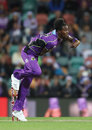Jofra Archer in his delivery stride, Hobart Hurricanes v Melbourne Renegades, Big Bash League 2017-18, Hobart, December 21, 2017