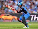 Alex Carey turns one square during his 26-ball 44, Adelaide Strikers v Sydney Thunder, Big Bash 2017-18, Adelaide, December 22, 2017