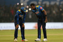 Angelo Mathews went off the field for a while , India v Sri Lanka, 2nd T20I, Indore, December 22, 2017