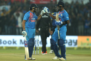 Openers Rohit Sharma and KL Rahul stitched together a 165-run partnership