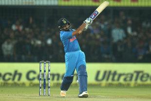 Rohit Sharma pulls on the up