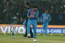 Kuldeep Yadav celebrates a wicket, India v Sri Lanka, 2nd T20I, Indore, December 22, 2017