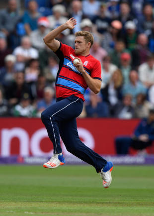 David Willey in action for England