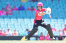 Erin Burns drives through the off side, Sydney Sixers v Hobart Hurricanes, Women's Big Bash League 2017-18, Sydney, December 23, 2017
