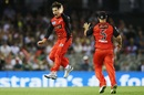 Brad Hogg wheels away after taking a wicket, Melbourne Renegades v Brisbane Heat, BBL 2017-18, Docklands, December 23, 2017