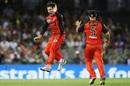 Brad Hogg wheels away after taking a wicket, Melbourne Renegades v Brisbane Heat, BBL 2017-18, Docklands, December 23, 2017