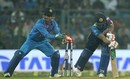 MS Dhoni's quick-as-ever hands tested the Sri Lankan batsmen, India v Sri Lanka, 3rd T20I, Mumbai, December 24, 2017