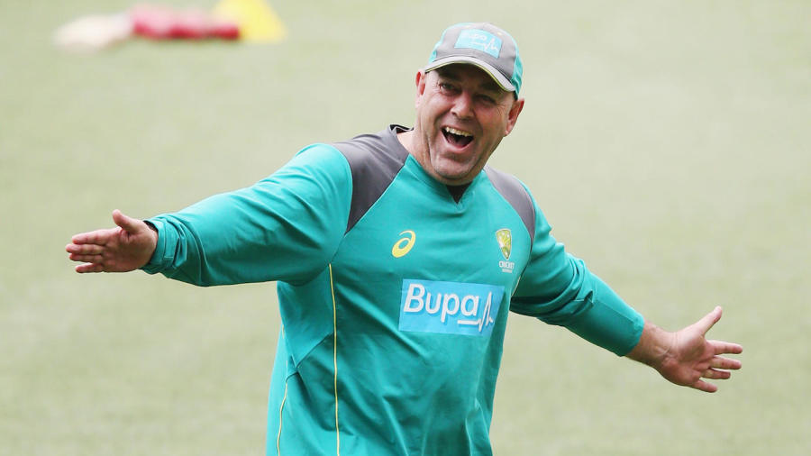 Australia's coach Darren Lehmann was in relaxed mood in Australia's practice session ahead of the Melbourne Test