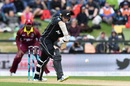 Tom Latham brings out a textbook defence, New Zealand v West Indies, 3rd ODI, Christchurch, December 26, 2017