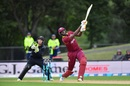 Jason Holder tonks one over midwicket, New Zealand v West Indies, 3rd ODI, Christchurch, December 26, 2017