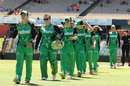 Melbourne Stars captain Kristen Beams leads the team out ahead of the start of play, Perth Scorchers v Melbourne Stars, WBBL 2017-18, Perth, December 26, 2017