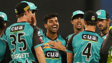 Shadab Khan is elated after dismissing Jos Buttler