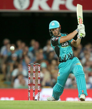 Chris Lynn hit four fours and one six in a cameo of 25 off 9 balls