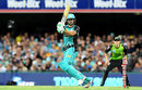 Joe Burns steers one onto the leg side, Brisbane Heat v Sydney Thunder, Big Bash 2017-18, Brisbane, December 27, 2017