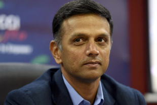 Rahul Dravid looks on at an event