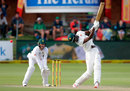 Blessing Muzarabani looks to cart one straight, South Africa v Zimbabwe, only Test, 2nd day, Port Elizabeth, December 27, 2017
