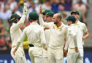 Nathan Lyon removed Jonny Bairstow for 22