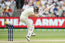 Chris Woakes ducks under a short ball, Australia v England, 4th Ashes Test, Melbourne, 3rd day, December 28, 2017