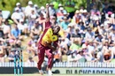 Jerome Taylor is a picture of exertion, New Zealand v West Indies, 1st T20I, Nelson, December 29, 2017