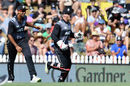 Glenn Phillips celebrates after taking a swirler to remove Chris Gayle, New Zealand v West Indies, 1st T20I, Nelson, December 29, 2017