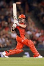 Marcus Harris belts one over midwicket, Melbourne Renegades v Perth Scorchers, Big Bash League 2017-18, Melbourne, December 29, 2017