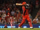 Tom Cooper is cleaned up, Melbourne Renegades v Perth Scorchers, Big Bash League 2017-18, Melbourne, December 29, 2017