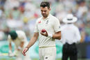 James Anderson lavishes love and attention on the ball, Australia v England, 4th Test, Melbourne, 4th day, December 29, 2017