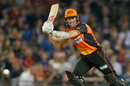 Michael Klinger flicks into the leg side, Melbourne Renegades v Perth Scorchers, BBL 2017-18, Docklands Stadium, December 29, 2017