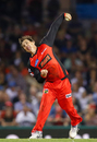 Brad Hogg picked up two wickets and only conceded 16 in his four overs, Melbourne Renegades v Perth Scorchers, BBL 2017-18, Docklands Stadium, December 29, 2017