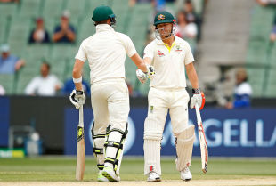 David Warner and Steve Smith extended their partnership on the fifth day