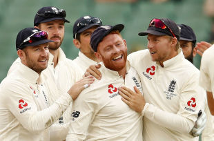 Jonny Bairstow took a fine catch to remove Shaun Marsh
