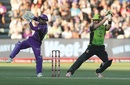 Shane Watson slashes one through the off side, Hobart Hurricanes v Sydney Thunder, Big Bash League 2017-18, Launceston, December 30, 2017