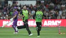 Mitchell McClenaghan had D'Arcy Short bowled for 15, Hobart Hurricanes v Sydney Thunder, Big Bash League 2017-18, Launceston, December 30, 2017