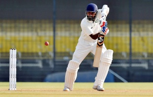 Wasim Jaffer opens his bat face to play square on the off side