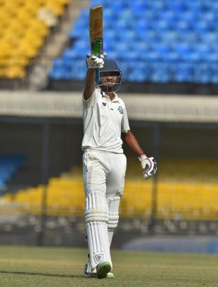 Akshay Wadkar struck his maiden first-class hundred