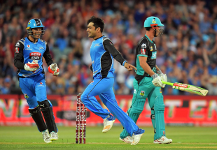 Rashid Khan had reason to celebrate, as usual