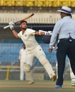 Siddhesh Neral was ecstatic after getting to fifty, Vidarbha v Delhi, Ranji Trophy 2017-18 final, Indore, 3rd day, December 31, 2017